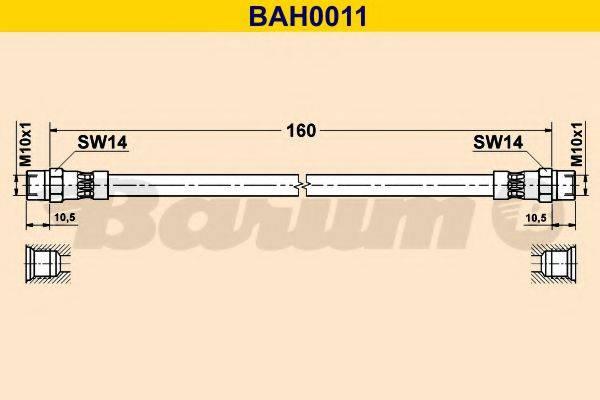 BARUM BAH0011 Тормозной шланг