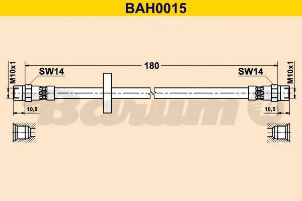 BARUM BAH0015 Тормозной шланг