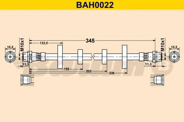 BARUM BAH0022 Тормозной шланг
