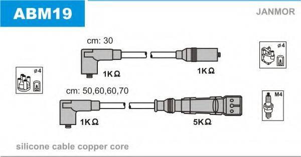 JANMOR ABM19 Комплект проводов зажигания