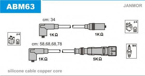 JANMOR ABM63 Комплект проводов зажигания
