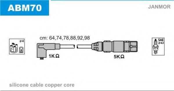 JANMOR ABM70 Комплект проводов зажигания