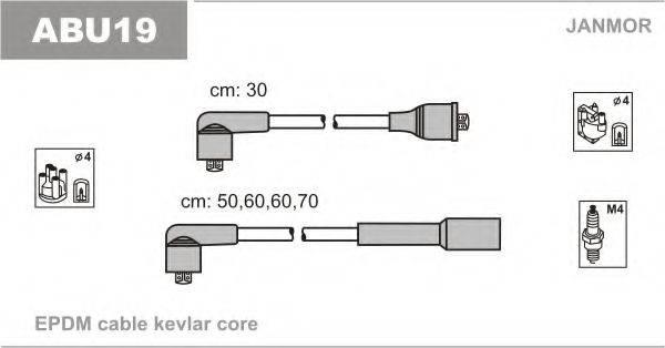JANMOR ABU19 Комплект проводов зажигания
