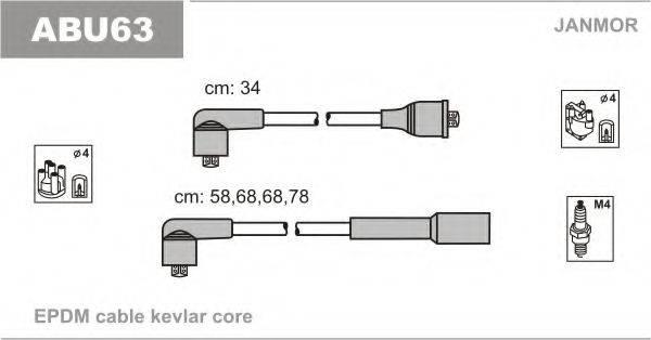 JANMOR ABU63 Комплект проводов зажигания