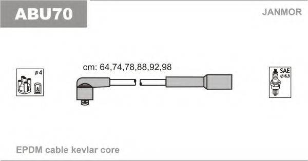 JANMOR ABU70 Комплект проводов зажигания