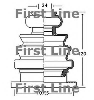 FIRST LINE FCB2682 Пыльник ШРУСа