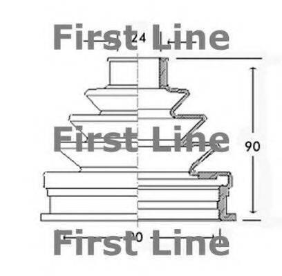 FIRST LINE FCB2255 Пыльник ШРУСа
