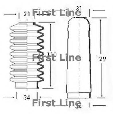 FIRST LINE FSG3005 Пыльник рулевой рейки