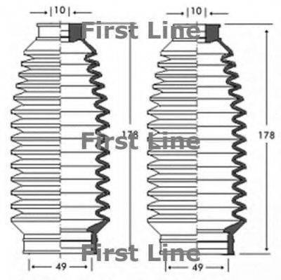 FIRST LINE FSG3236 Пыльник рулевой рейки