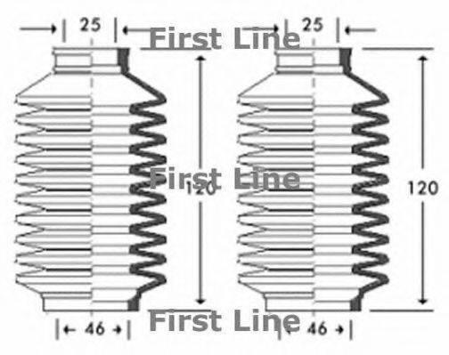 FIRST LINE FSG3261 Пыльник рулевой рейки