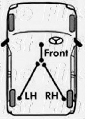 FIRST LINE FKB1038 Трос, стояночная тормозная система