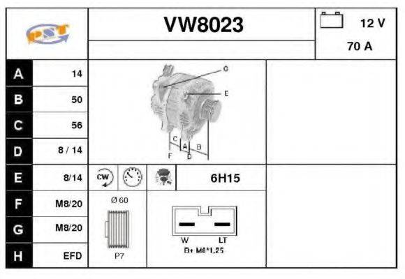 SNRA VW8023 Генератор