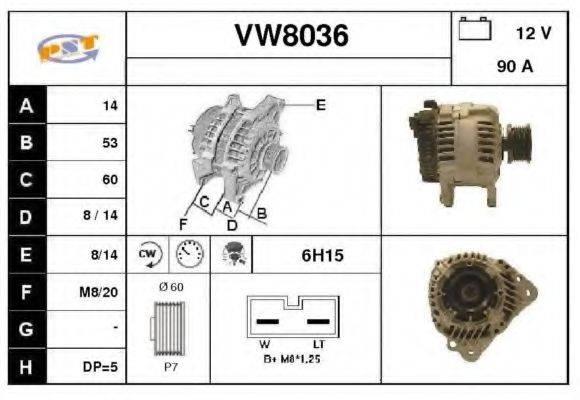 SNRA VW8036 Генератор
