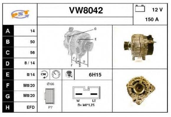 SNRA VW8042 Генератор