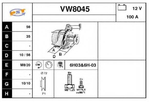 SNRA VW8045 Генератор