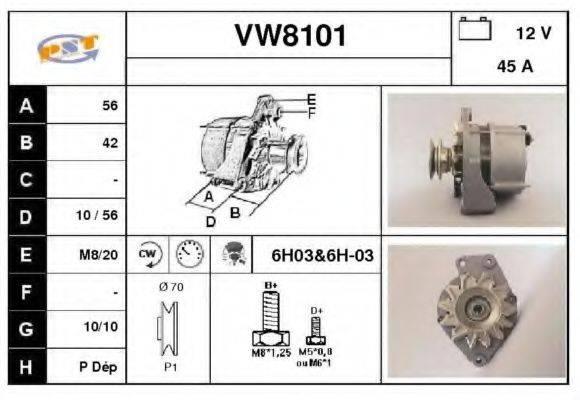 SNRA VW8101 Генератор