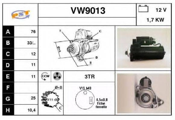 SNRA VW9013 Стартер