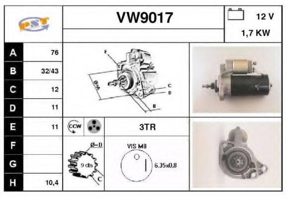 SNRA VW9017 Стартер