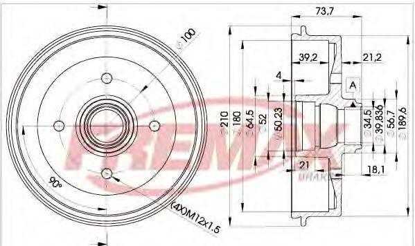 FREMAX BD1511 Тормозной барабан