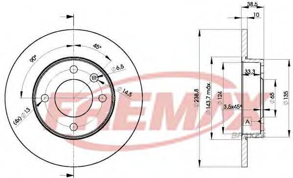 FREMAX BD3325 Тормозной диск