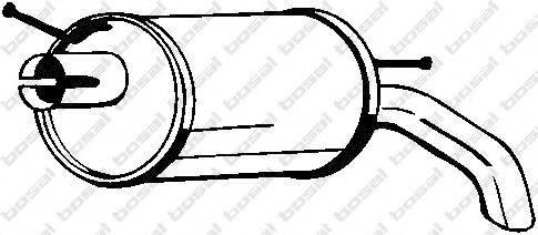 BOSAL 154511 Глушитель выхлопных газов конечный