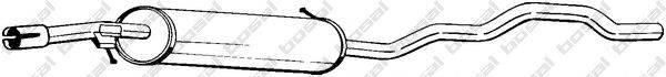 BOSAL 285515 Средний глушитель выхлопных газов
