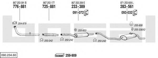 BOSAL 09023460 Система выпуска ОГ
