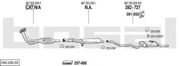 BOSAL 09025855 Система выпуска ОГ
