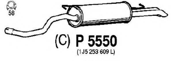FENNO P5550 Глушитель выхлопных газов конечный