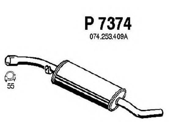 FENNO P7374 Средний глушитель выхлопных газов