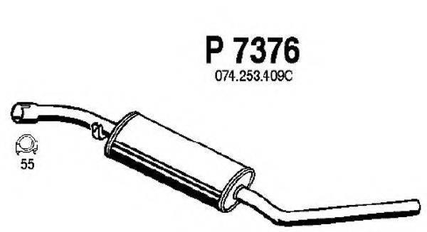 FENNO P7376 Средний глушитель выхлопных газов