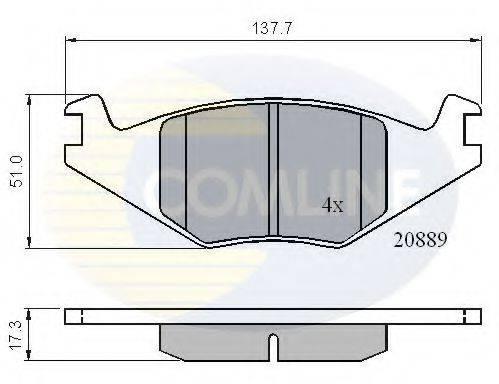 COMLINE CBP0136 Тормозные колодки