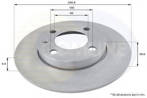 COMLINE ADC1401 Тормозной диск