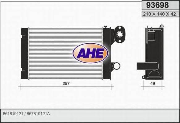 AHE 93698 Радиатор печки