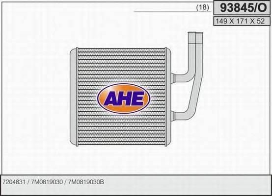 AHE 93845O Радиатор печки