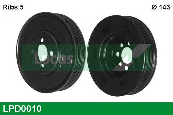 LUCAS ENGINE DRIVE LPD0010 Ременный шкив, коленчатый вал