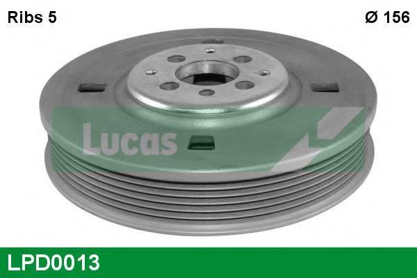 LUCAS ENGINE DRIVE LPD0013 Ременный шкив, коленчатый вал