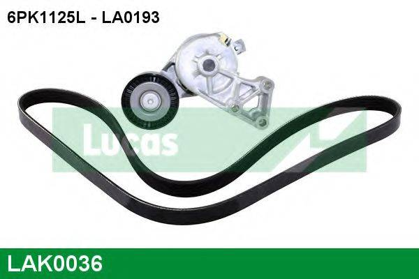 LUCAS ENGINE DRIVE LAK0036 Поликлиновой ременный комплект