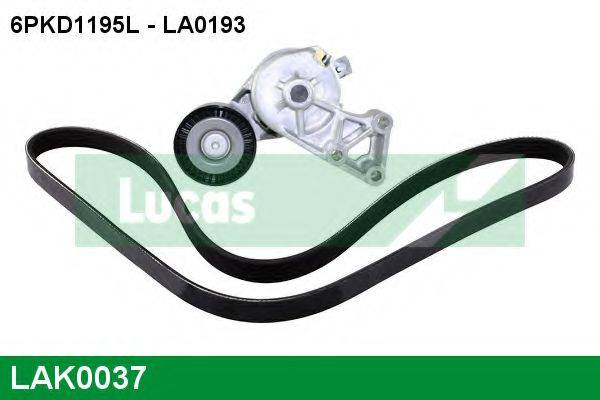 LUCAS ENGINE DRIVE LAK0037 Поликлиновой ременный комплект