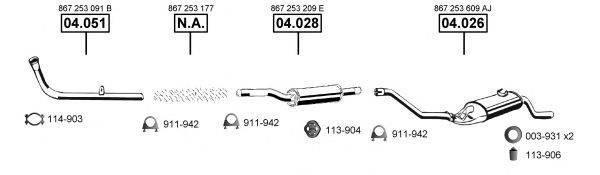 ASMET VA034520 Система выпуска ОГ