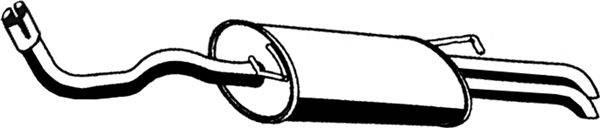 ASMET 21027 Глушитель выхлопных газов конечный
