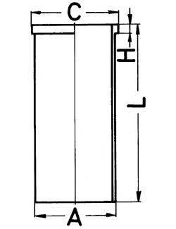 KOLBENSCHMIDT 89434190 Гильзы цилиндра двигателя