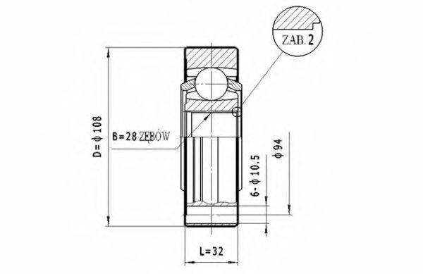 STATIM CW042 ШРУС с пыльником