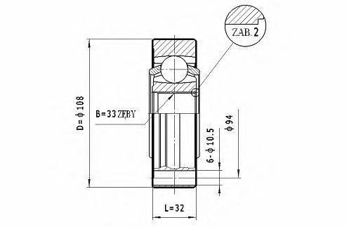 STATIM CW049 ШРУС с пыльником