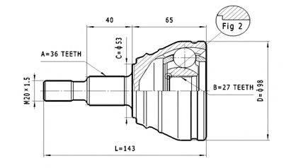 STATIM C310 ШРУС с пыльником