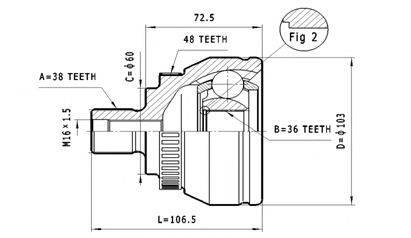 STATIM C323 ШРУС с пыльником