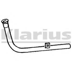 KLARIUS 120197 Труба выхлопного газа