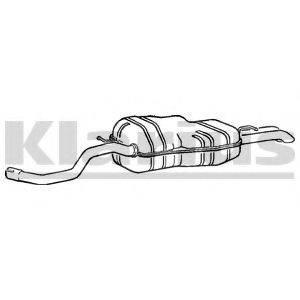 KLARIUS 250550 Глушитель выхлопных газов конечный
