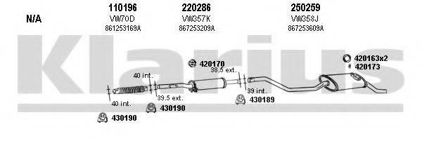 KLARIUS 930506E Система выпуска ОГ