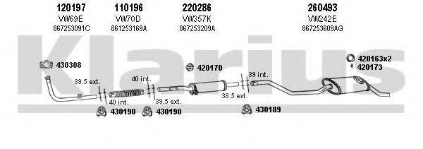 KLARIUS 930514E Система выпуска ОГ